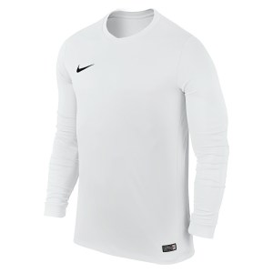 Nike Park VI Long Sleeve Football Shirt White-Black