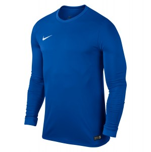 Nike Park VI Long Sleeve Football Shirt Royal Blue-White