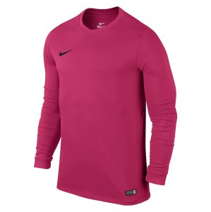 Nike Park VI Long Sleeve Football Shirt Vivid Pink-Black