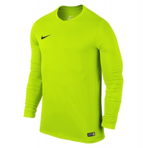 Nike Park VI Long Sleeve Football Shirt Volt-Black