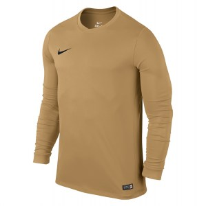 Nike Park VI Long Sleeve Football Shirt Jersey Gold-Black