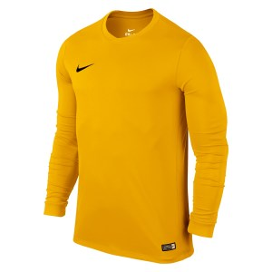 Nike Park VI Long Sleeve Football Shirt University Gold-Black