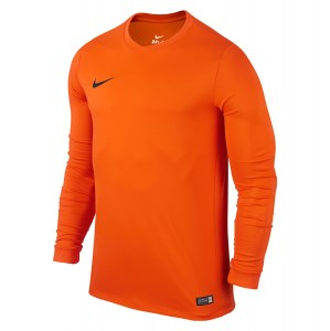 Nike Park VI Long Sleeve Football Shirt Safety Orange-Black