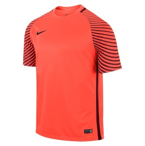 Nike Gardien Short Sleeve Football Goalkeeper Jersey Bright Crimson-Deep Garnet-Black