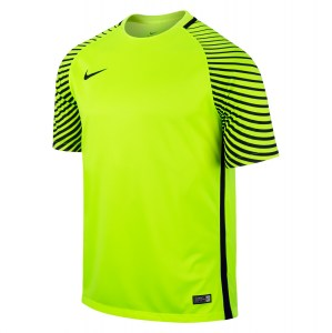 Nike Gardien Short Sleeve Football Goalkeeper Jersey Volt-Black-Black