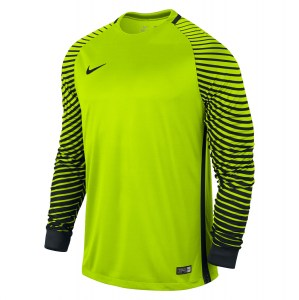 Nike Gardien Long Sleeve Football Goalkeeper Jersey Volt-Black-Black