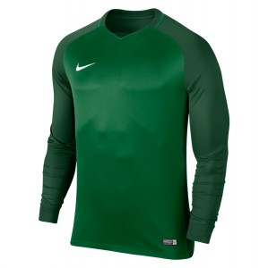 Nike Trophy III Long Sleeve Football Jersey Pine Green-Gorge Green-Gorge Green-White