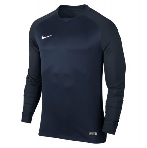 Nike Trophy III Long Sleeve Football Jersey Midnight Navy-Dark Obsidian-Dark Obsidian-White