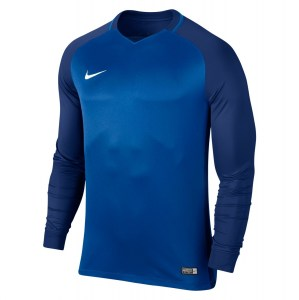 Nike Trophy III Long Sleeve Football Jersey Royal Blue-Deep Royal Blue-Deep Royal Blue-White