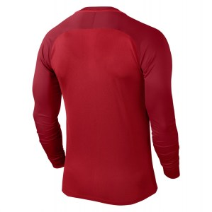 Nike Trophy III Long Sleeve Football Jersey University Red-Gym Red-Gym Red-White