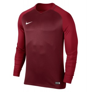 Nike Trophy III Long Sleeve Football Jersey Team Red-Gym Red-Gym Red-White