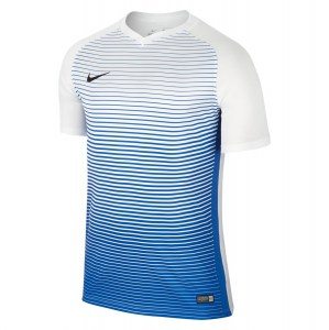 Nike Precision Iv Short Sleeve Shirt White-Royal Blue-Black