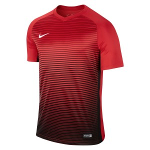 Nike Precision Iv Short Sleeve Shirt University Red-Black-White