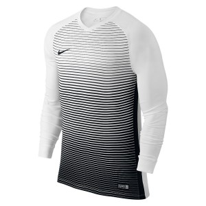 Nike Precision Iv Long Sleeve Football Shirt White-Black-Black-Black