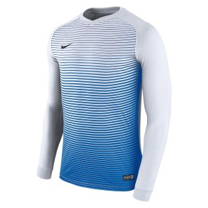 Nike Precision Iv Long Sleeve Football Shirt White-Royal Blue-Royal Blue-Black
