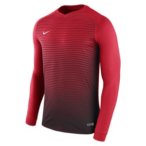 Nike Precision Iv Long Sleeve Football Shirt University Red-Black-Black-White
