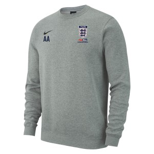 Nike Team Club 19 Crew Sweatshirt Dk Grey Heather-Black